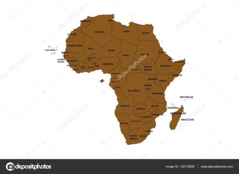 map of africa with countries     Stock Vector      noche0  142118206 Map of africa with countries     Stock Vector