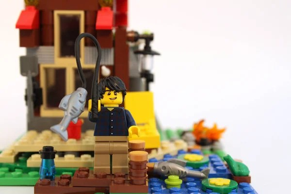 LEGO night museum break in      Stock Editorial Photo      Rosinka79     LEGO Guy Fishing