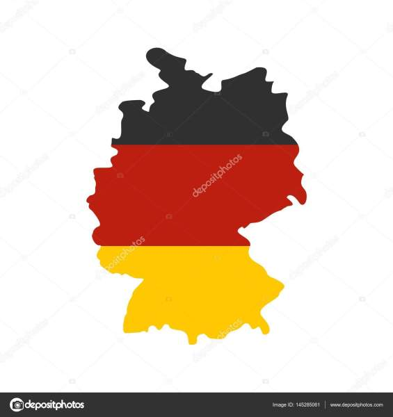 Germany map with national flag icon  flat style     Stock Vector     Germany map with national flag icon  flat style     Stock Vector