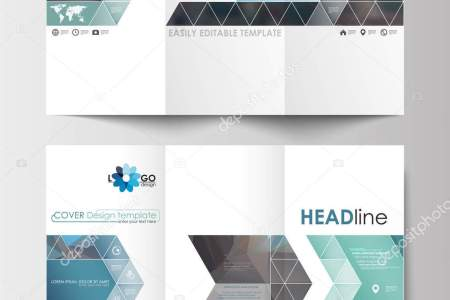 Tri fold brochure templates on both sides  Easy editable layout in     Tri fold brochure templates on both sides  Easy editable layout in flat  design