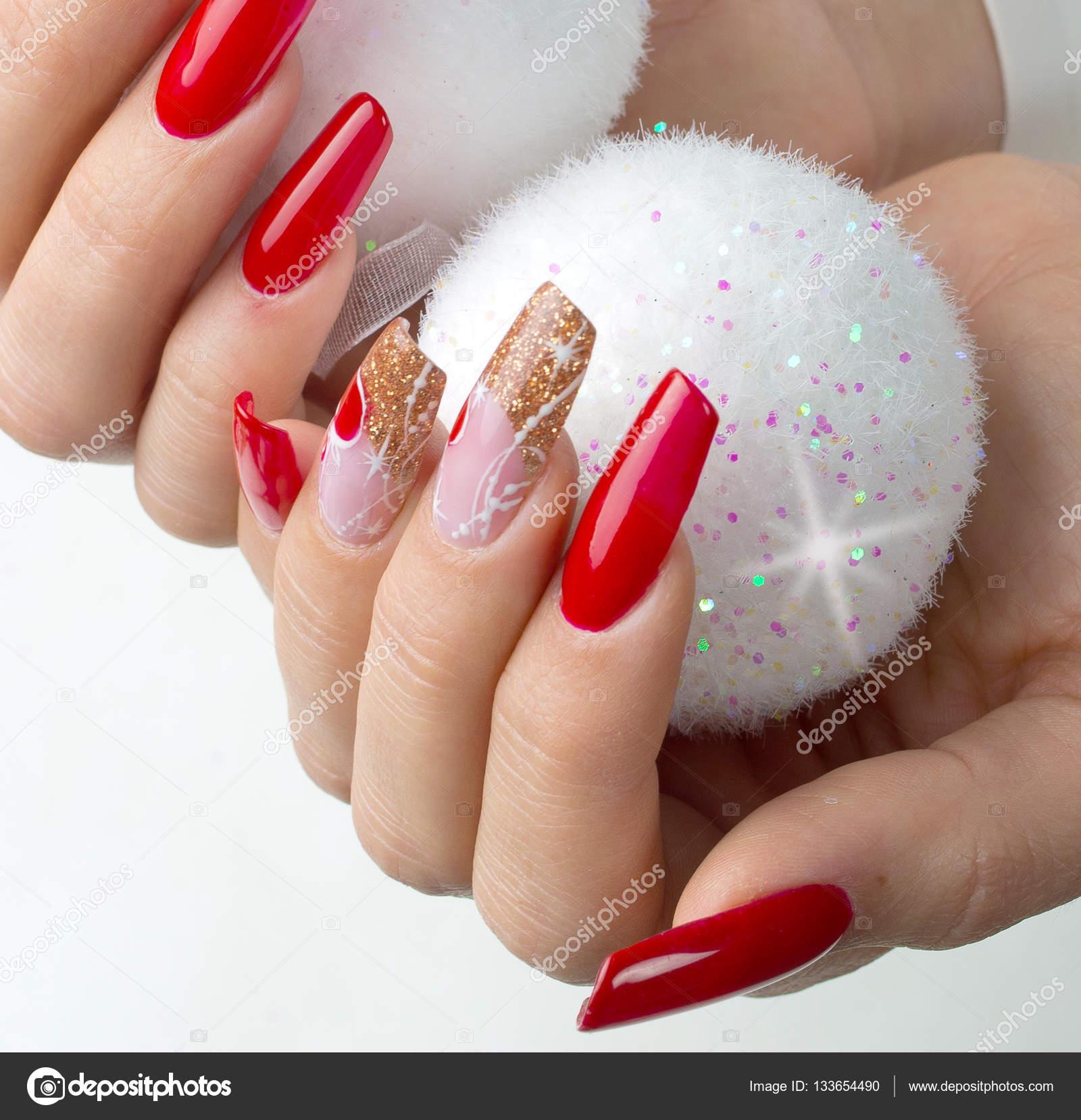 Unas encapsuladas acrilicas decoracion de - Decoracion de unas para navidad ...