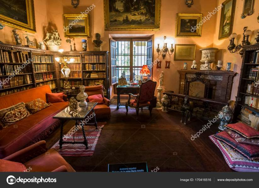 Seville Andalusia Spain May 2017 Interiors Details Palacio Las     Seville Andalusia Spain May 2017 Interiors Details Palacio Las Duenas      Stock Photo