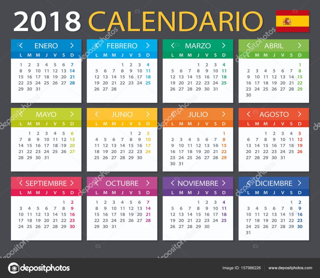 spanish calendar for january 2014