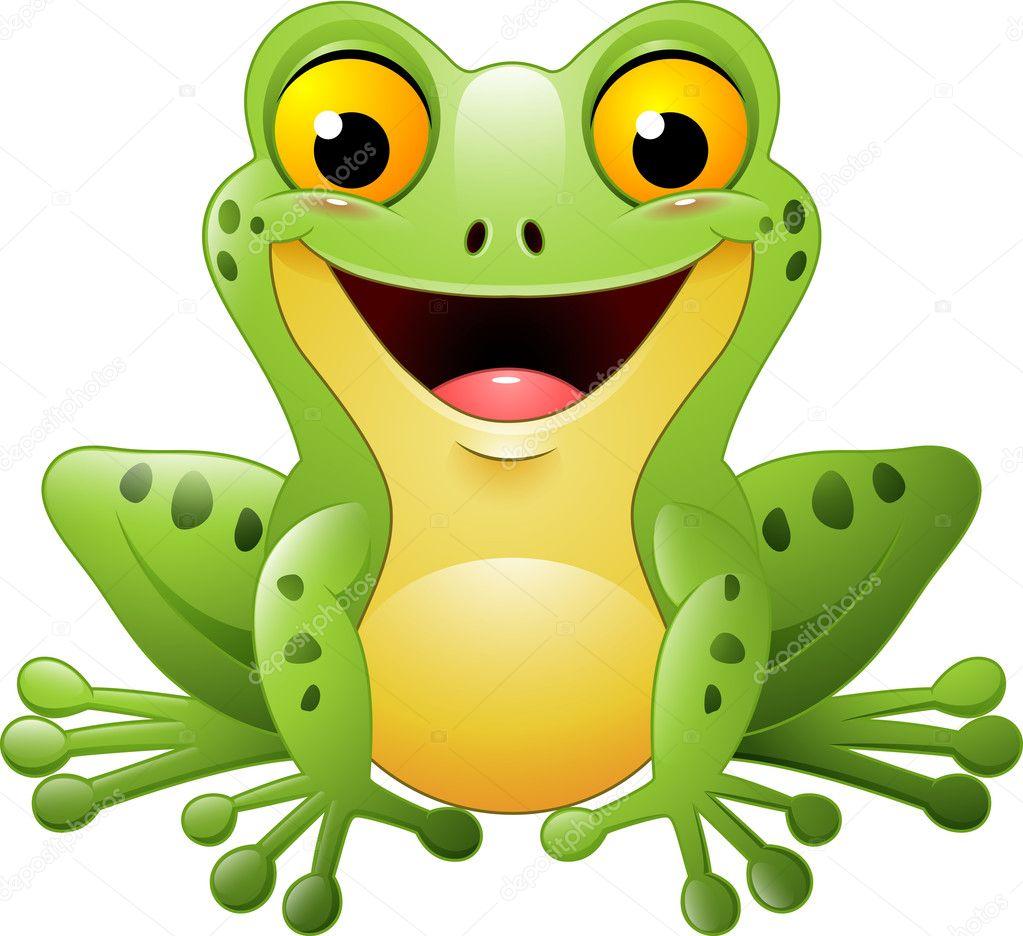 Cute frog cartoon | Cartoon cute frog — Stock Vector ...