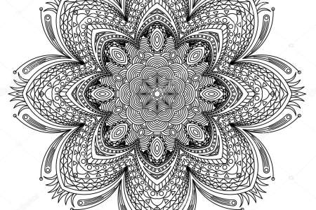 Abstract Floral Henna Paisley Flowers Mehndi Tattoo Doodles Set Vector Illustration Design Elements Round Mandala Flower Stock