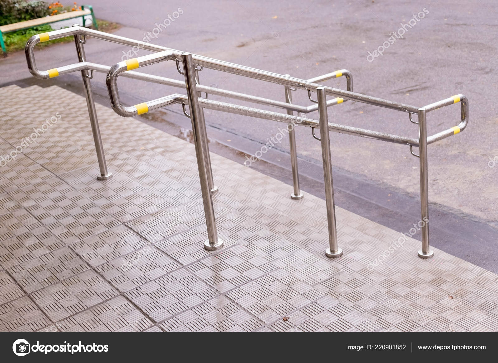 Stainless Steel Handrails Are Installed On The Walls And Steps   Stair Rails For Elderly   Stair Climbing   Down Stairs   Wood   Cmmc Handrail   Pipe