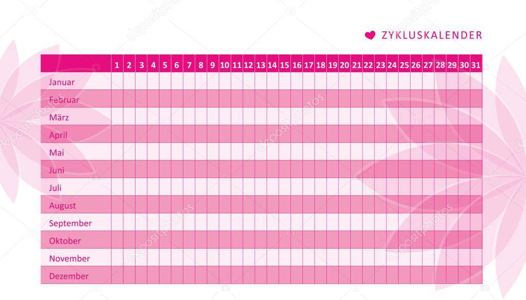 counting menstrual cycle calendar - HD1600×1003