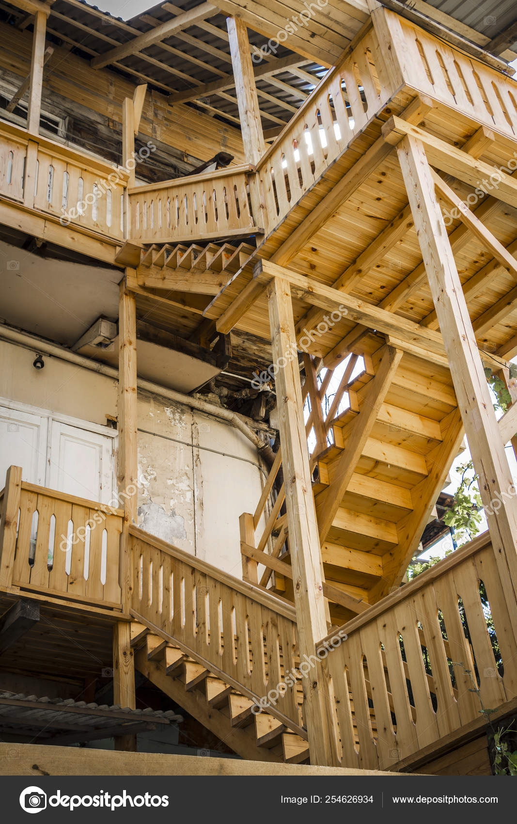 Stairs Made Of Wood — Stock Photo © Sv Production 254626934 | Stairs Made Of Wood | Pine | Staircase | Wood Plank | Hanging | Custom Made