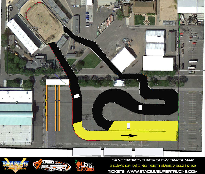 Sand Sports Super Show Track Map Robby Gordon Stadium SUPER Trucks