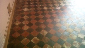 Victorian Quarry Tiled Floor Restored In Leek