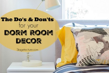 Dorm Room Decor  The Dos and Donts for College   modern bedroom with white lamp on white wooden table side at home  Disclosure Resources
