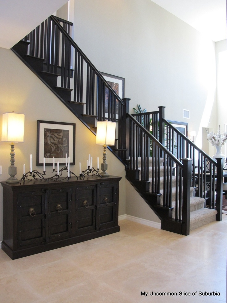 Black Railings For Stairs – Staircase Design   Black Wood Stair Railing   Hardwood   Curved Wood   Ash Gray   Oak   Cantilever Stair