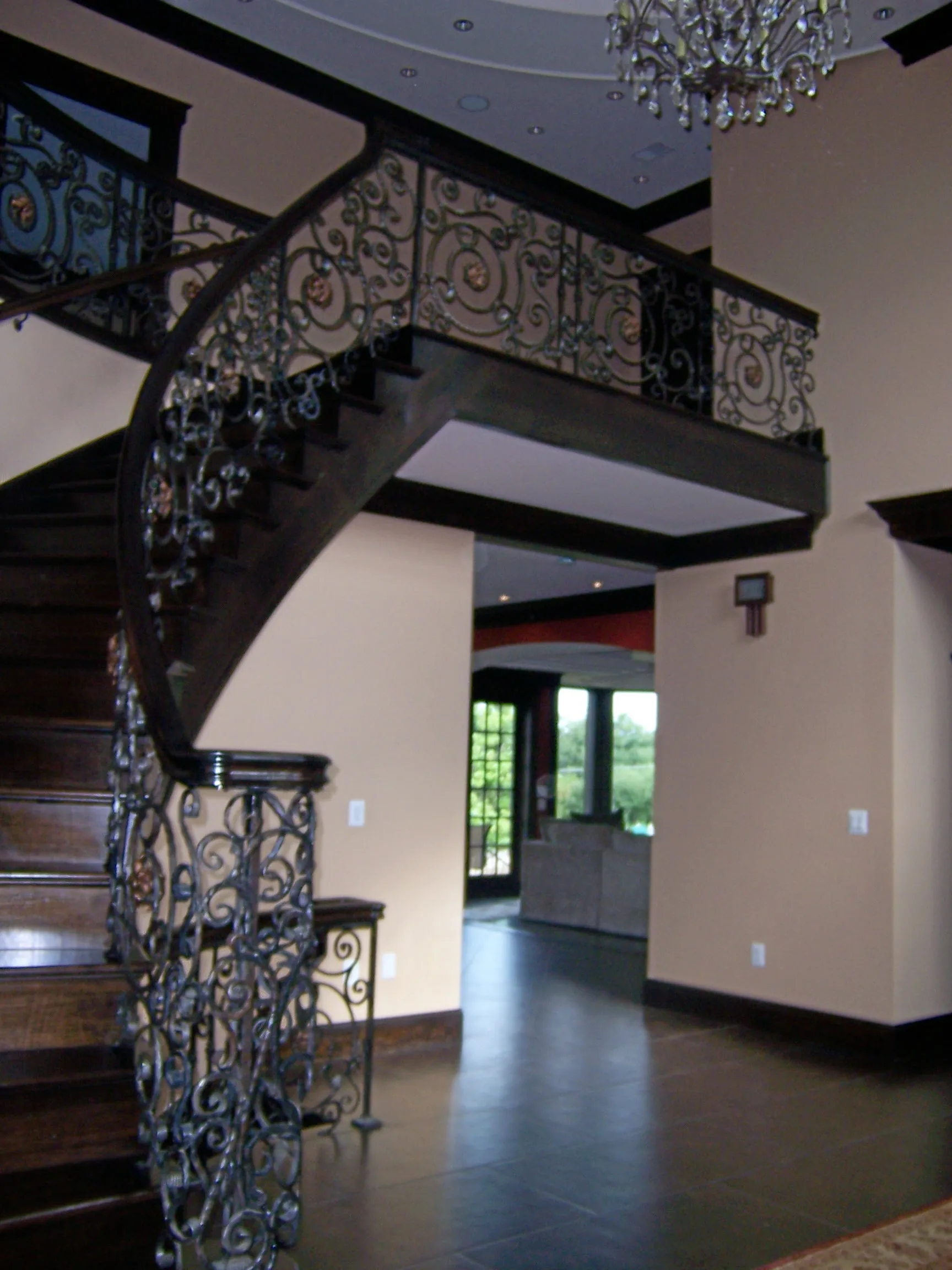 Metal Framework Stairs Indoors And On The Porch – Staircase Design | Metal Staircases For Homes | Beam | Stainless Steel | Support | Statement | Metallic