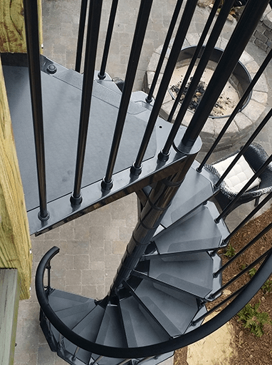 Homepage Stair Solution | Exterior Metal Spiral Staircase | Interior | Outdoor | Free Standing | Custom Exterior | Model