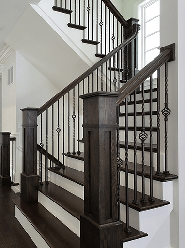 Homepage Stair Solution   Hardwood Handrails For Stairs   Brown   Tree Shaped Stair   Balustrade   Indoor   Handrail