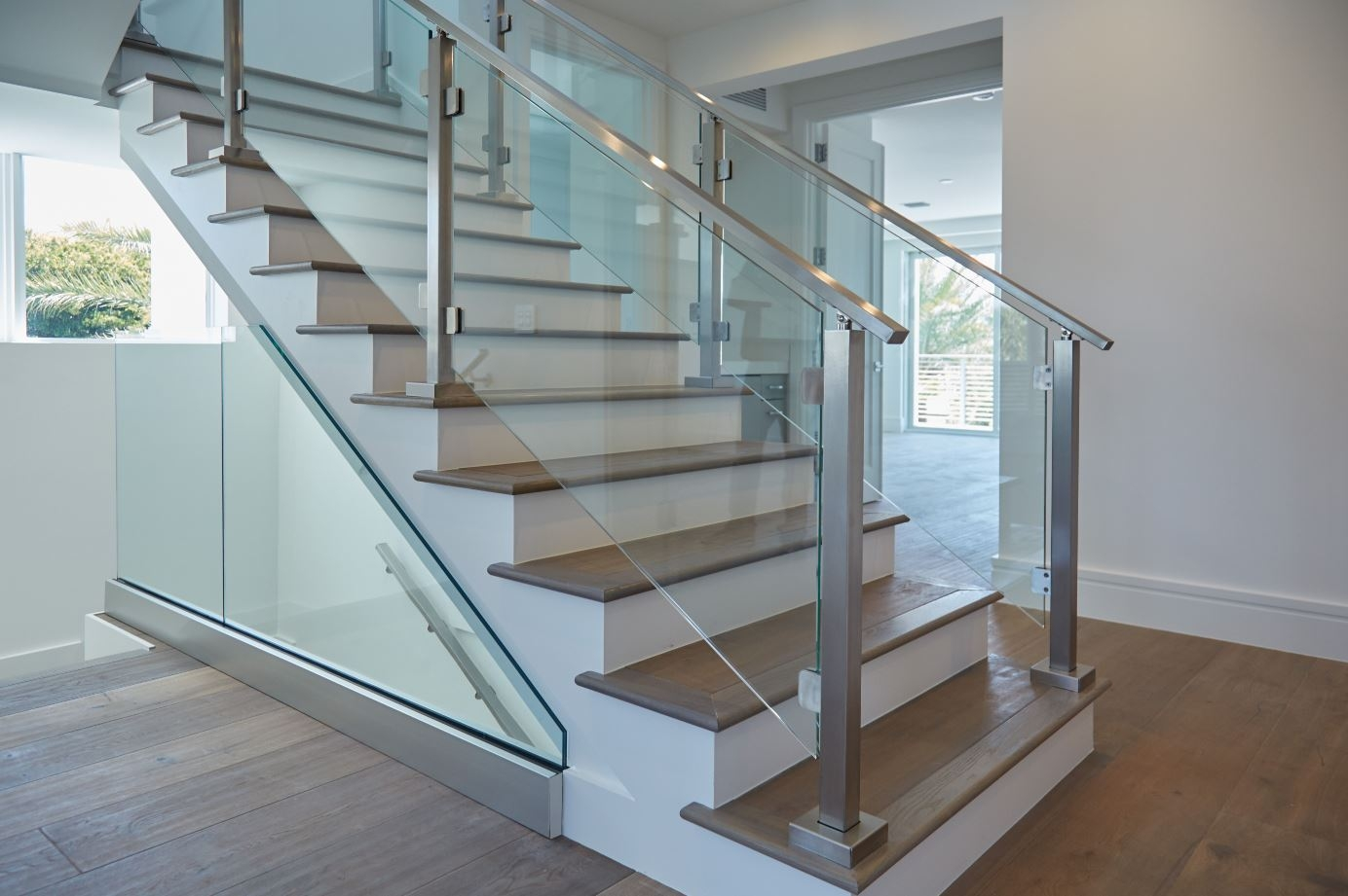 Modern Railing Systems In Wood Cable Wire Stainless Steel Glass | Glass Hand Railing Design | Fancy | Street Railing | Commercial | Outdoor | Glass Etching