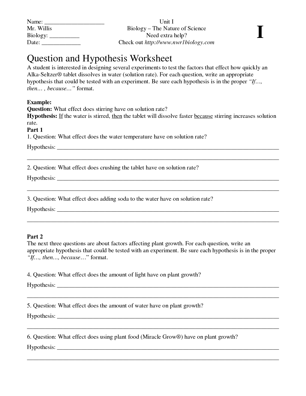 worksheet Hypothesis Worksheet hypothesis worksheet free worksheets library download and print worksheet