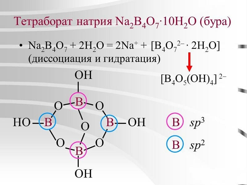 Reaksi kimia dengan partisipasi bora