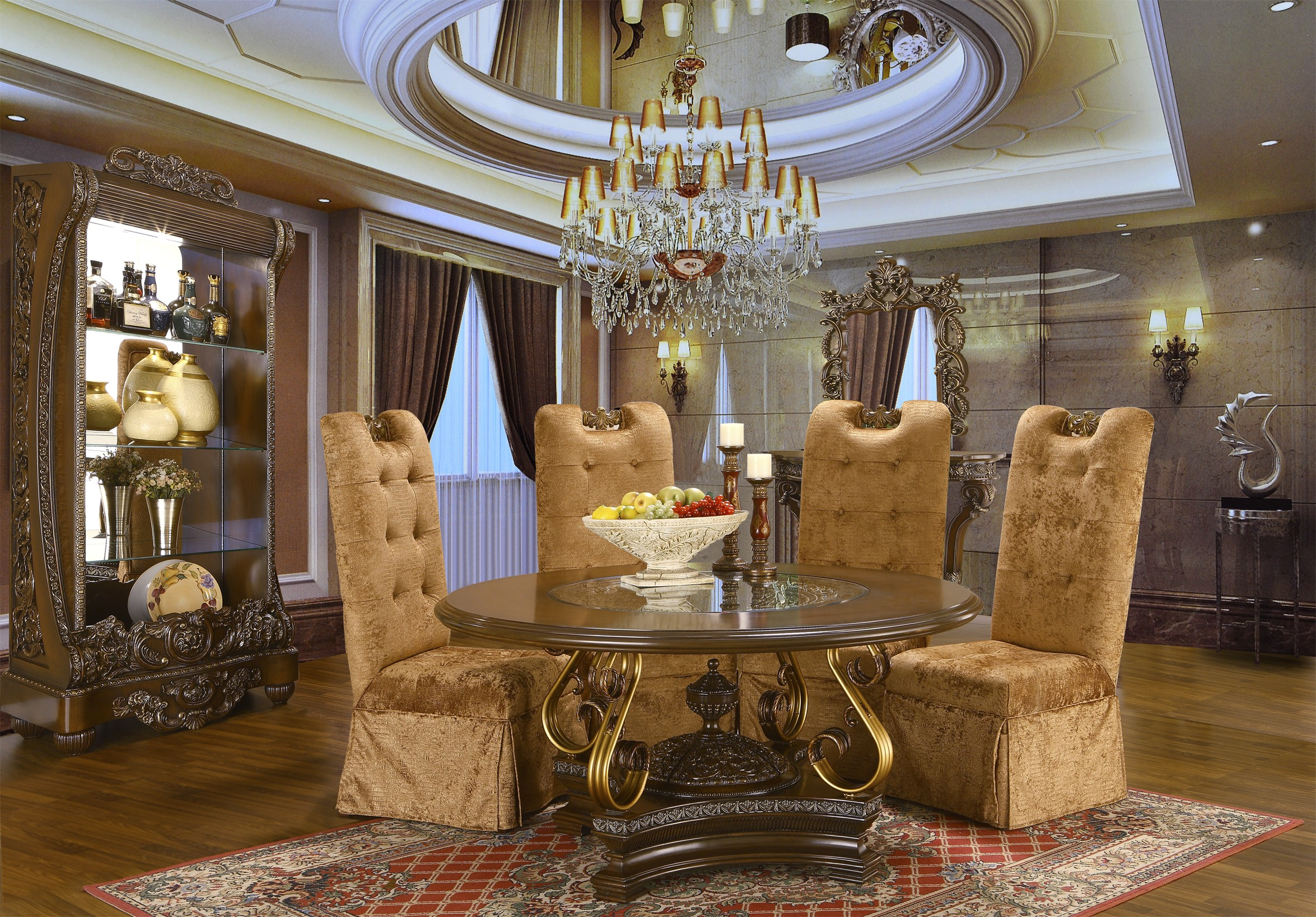 Extravagant Round Dining Table Hd 2101 Classic Dining