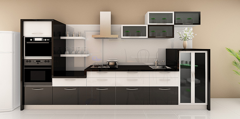 Small Straight Line Kitchen Designs