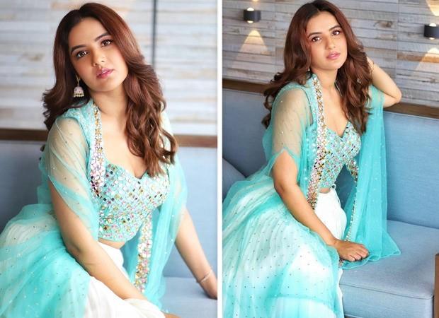 Jasmin Bhasin is a beauty in soft-hued blue lehenga with mirror designs : Bollywood News – Bollywood Hungama