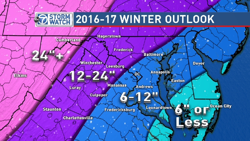 Winter Snow Predictions 2016 2017