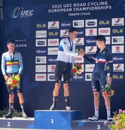 Biking.  Eddy Le Huitouze (EC Pluvigner), bronze medalist on the European Championship