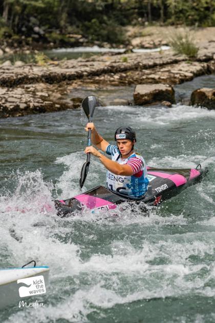Canoe Kayak.  Born in Alençon, Elias Blais is the European Beneath 23 crew dash champion