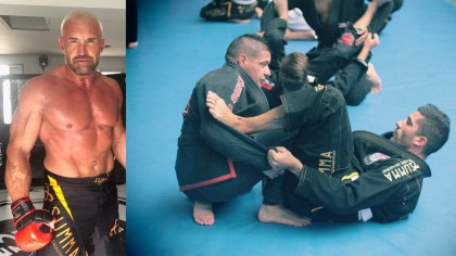 Basque Nation.  Jérôme Le Banner, the legend of fight sports activities, will lead an MMA course in Bayonne