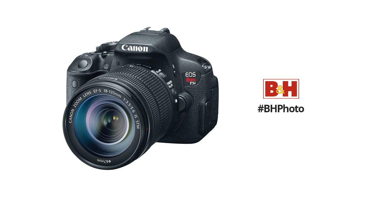 Canon EOS Rebel T5i DSLR Camera with 18 135mm Lens 8595B005 B H