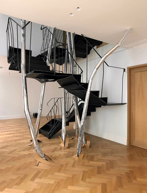 22 Beautiful Stairs That Will Make Climbing To The Second Floor | Outdoor Stairs To Second Floor | Rooftop Deck | Inside | Porch | Wide | Second Level