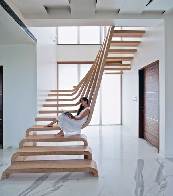 22 Beautiful Stairs That Will Make Climbing To The Second Floor | Inside Home Stairs Design | Light | Small Place | Trendy Home | Low Cost | Drawing Room