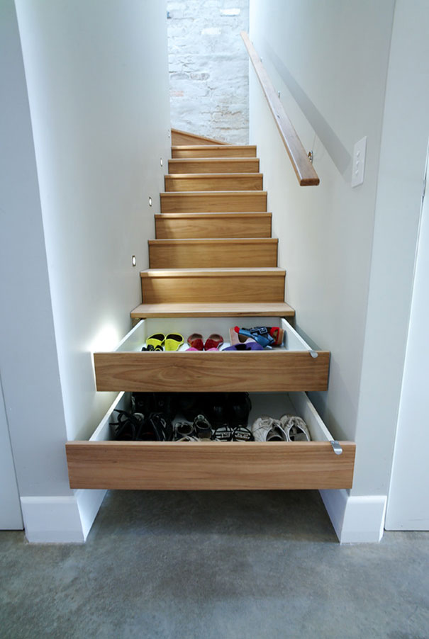 25 Of The Best Space Saving Design Ideas For Small Homes   Bored Panda  3 Stair Drawers