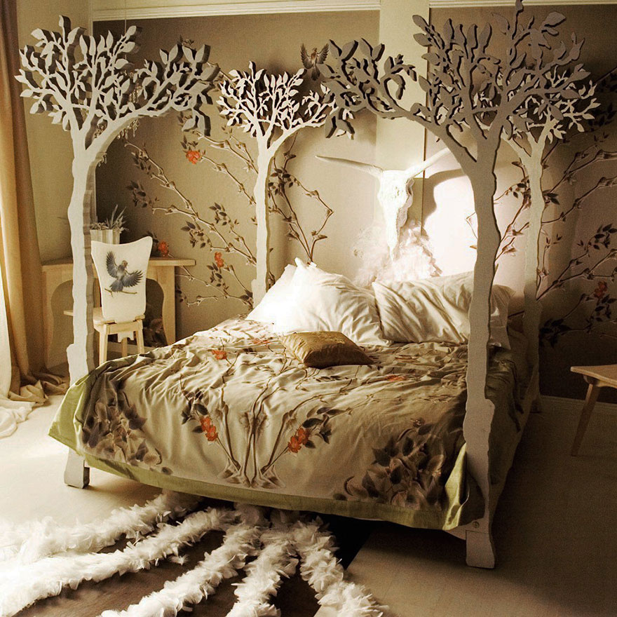 Under The Apple Tree Canopy Bed Bored Panda