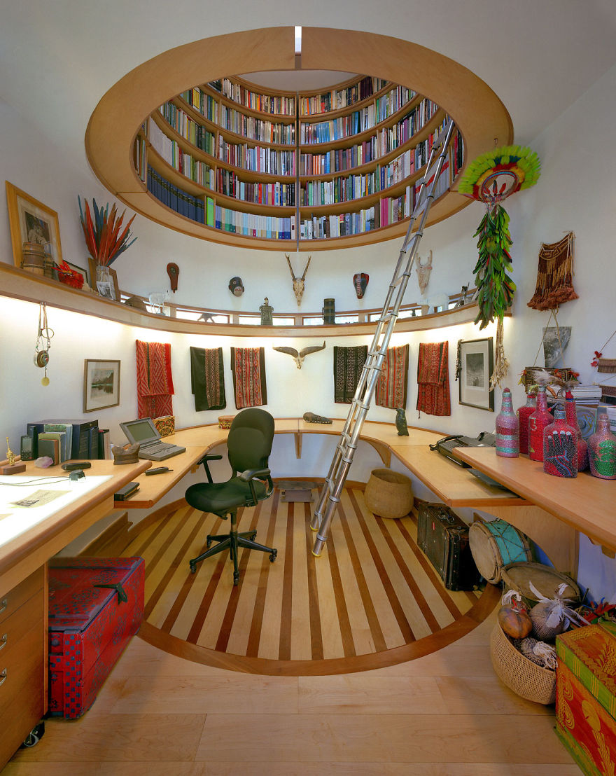 22  Stunning Interior Design Ideas That Will Take Your House To      3 Ceiling Library