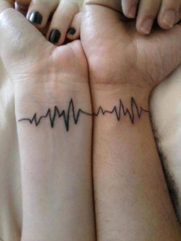 20+ Matching Couple Tattoos For Lovers That Will Grow Old ...