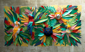 Mesmerizing Paper Art Made From Strips Of Colored Paper By