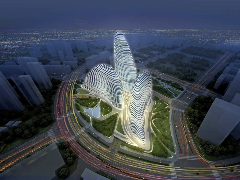 Chinese Pirates Are Building A Knock Off Version Of Zaha Hadid s New     Wanjian SOHO Hadid