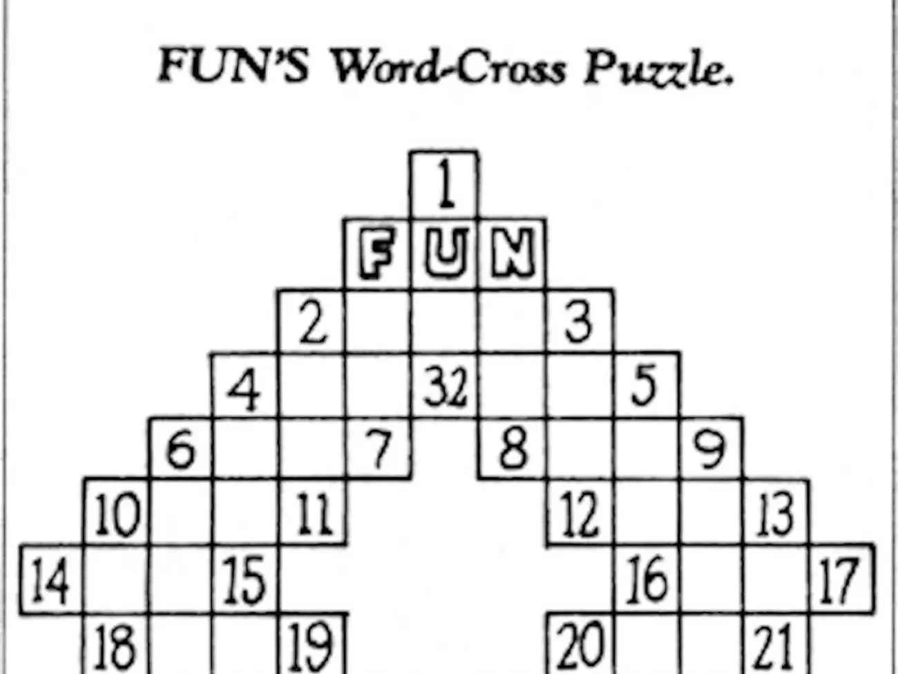Here's The First Crossword Puzzle That Ran 100 Years Ago ...