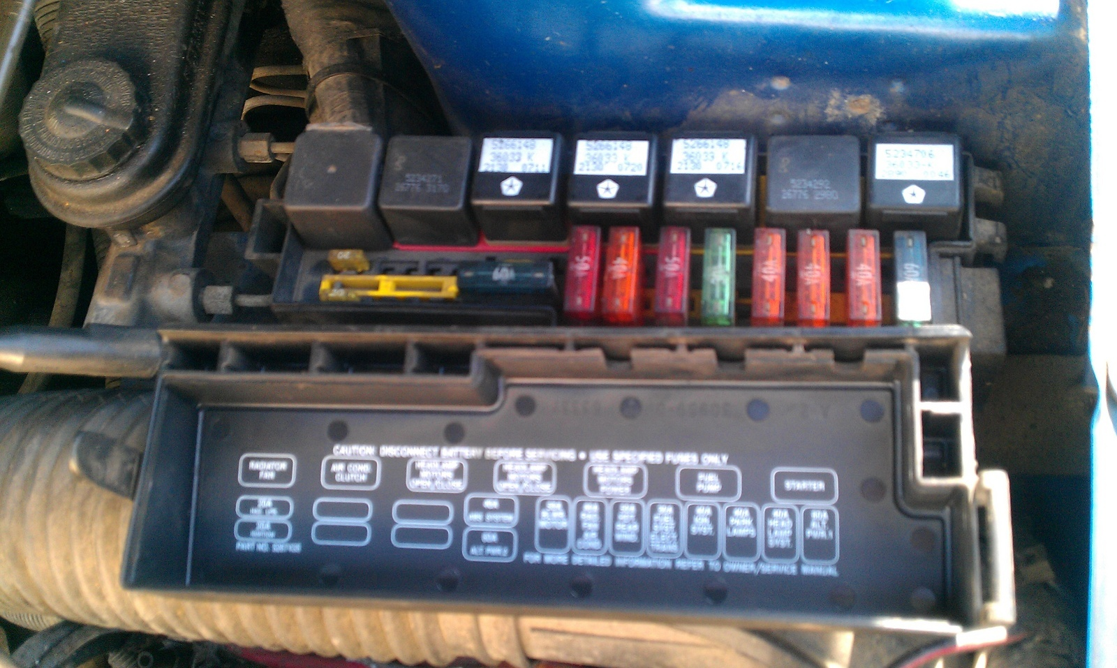 Box 93 Diagram Fuse Ford Ranger