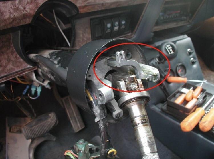 89 F150 Steering Column Diagram