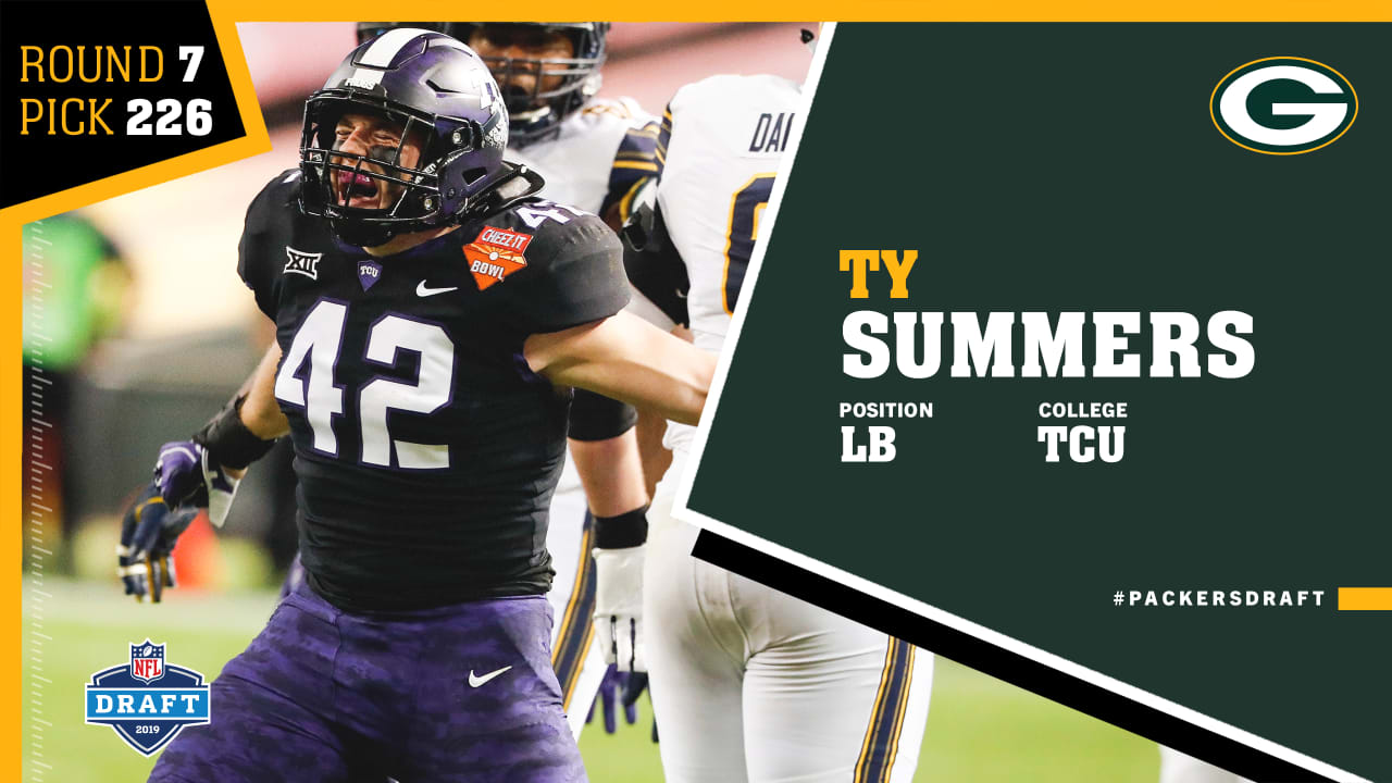 Quick Pick Packers Draft Lb Ty Summers In The Seventh Round