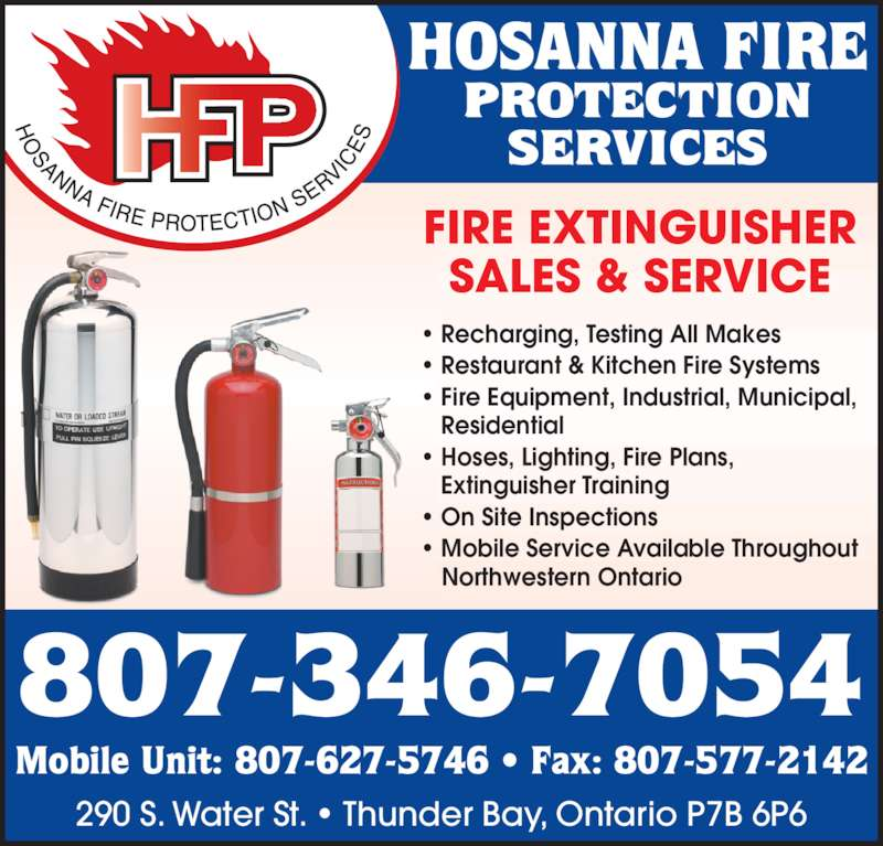 Hosanna Fire Protection Services - Opening Hours - 290 ...