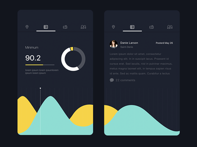 Collect UI   Daily inspiration collected from daily ui archive and     Analytics Chart by Ranjith Alingal