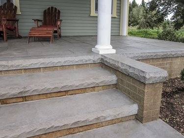 Concrete Steps Outdoor Stair Design Height The Concrete Network   Front Porch Stairs Design   Front Roofing   Small   Stone   Verandah Step   Beautiful