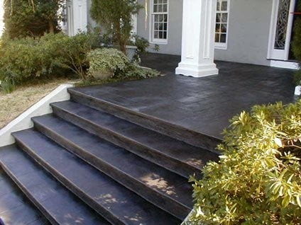 Concrete Porch Ideas 6 Front Steps Makeovers The Concrete Network   Outdoor Steps Design For House   Metal   Farm House Wide Front Porch   Handrail   Outdoor Walkway   Fancy