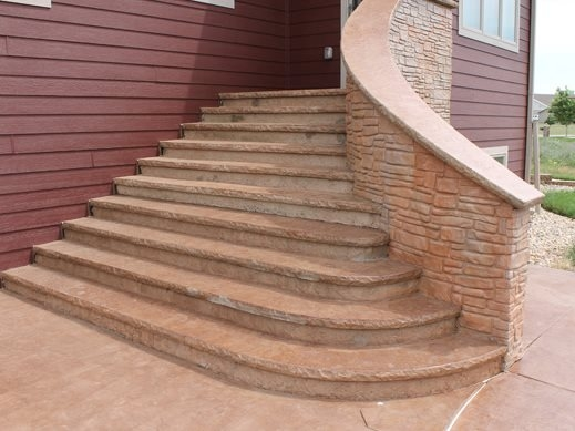 Pouring Concrete Steps The Concrete Network   Wood Steps Over Concrete Steps   Cement   Concrete Patio   Brick   Stair Stringers   Curb Appeal