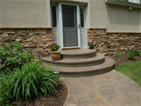 Concrete Steps Outdoor Stair Design Height The Concrete Network   Stairs Design Outside Home   Single   Steel   Length   Contemporary Exterior   Stairway Outside