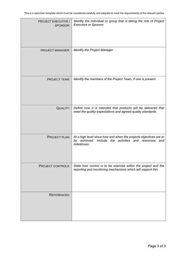 Project Initiation Document Template In Word And Pdf