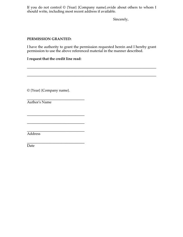 Line Credit Letter Sample